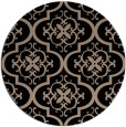 rug #384853 | round black traditional rug