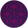 rug #384869 | round blue traditional rug