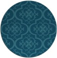 rug #384889 | round blue-green traditional rug