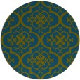 rug #384901 | round blue-green traditional rug