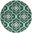 rug #384973 | round blue-green traditional rug
