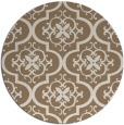 rug #384993   round beige traditional rug