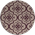rug #384997 | round pink traditional rug