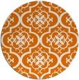 rug #385033   round orange popular rug