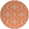 rug #385037 | round beige traditional rug