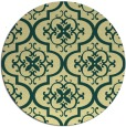 rug #385045 | round yellow traditional rug