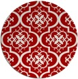 rug #385081 | round red traditional rug