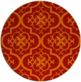 rug #385085 | round red traditional rug