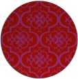 rug #385093 | round red traditional rug