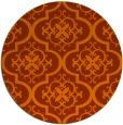 rug #385097   round red-orange traditional rug
