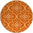 rug #385101   round red-orange traditional rug