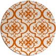 rug #385109 | round red-orange traditional rug