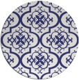 rug #385121 | round blue traditional rug