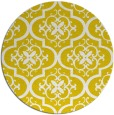 rug #385141 | round yellow popular rug