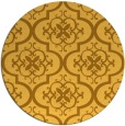 rug #385145 | round yellow traditional rug