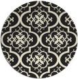 rug #385149 | round black popular rug
