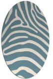 rug #387681 | oval white stripes rug