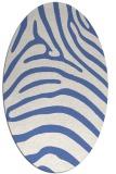 rug #387697 | oval blue animal rug