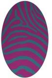 rug #387721   oval pink animal rug