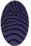 rug #387741 | oval blue-violet animal rug