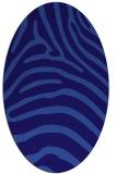 rug #387761 | oval blue-violet animal rug