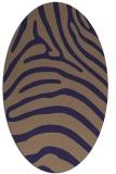 rug #387765   oval blue-violet animal rug