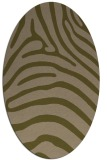 rug #387777   oval mid-brown stripes rug