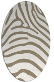 rug #387797 | oval white stripes rug
