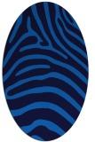 rug #387825 | oval blue animal rug