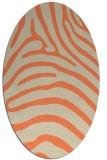 rug #387853 | oval orange animal rug