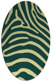 rug #387861 | oval yellow stripes rug