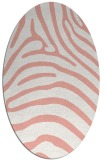 rug #387877 | oval white stripes rug