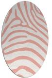 rug #387877 | oval white animal rug