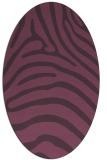 rug #387881   oval purple rug