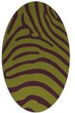 rug #387885 | oval purple rug