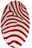 rug #387897 | oval red stripes rug