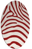 rug #387905 | oval red animal rug