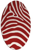 rug #387906 | oval stripes rug