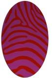 rug #387909 | oval pink animal rug