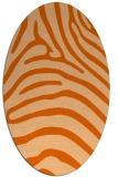 rug #387917 | oval red-orange animal rug