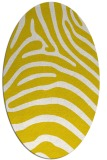 rug #387933 | oval white animal rug