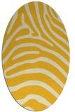 rug #387945 | oval yellow animal rug