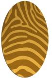 rug #387961 | oval light-orange animal rug