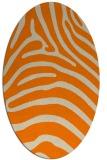 rug #387973 | oval orange popular rug