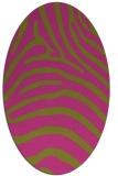 rug #387985 | oval light-green animal rug