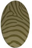 rug #387989 | oval light-green animal rug