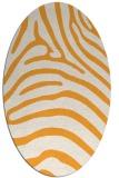 rug #388005 | oval white stripes rug