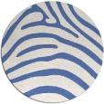 rug #388401 | round blue animal rug