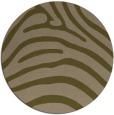 rug #388481 | round mid-brown stripes rug