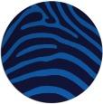 rug #388529 | round blue animal rug